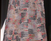 French Vintage Skirt, Ginette Pauquet 70s Skirt
