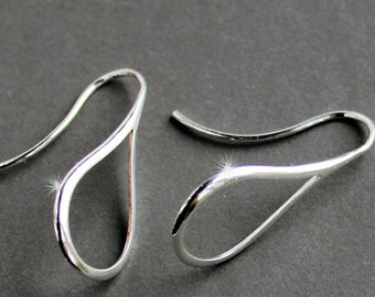 Sterling Silver Jewelry Earrings - Marquis - Free U.S. Shipping
