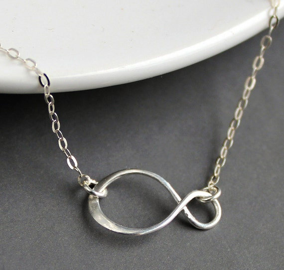 Sterling Silver Jewelry Necklace - Infinity