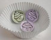 Raging Cupcake Pastel Magnets