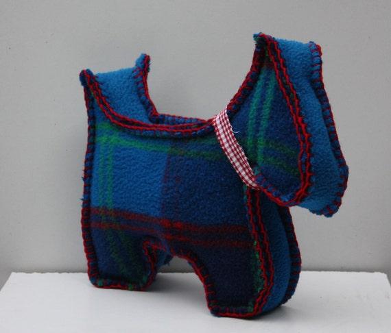little plaid dog