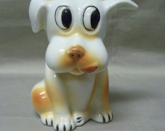 Vintage Adorable Puppy Dog Piggy Bank
