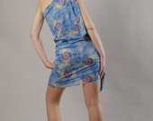 Cute Cocktail  Dress, Light Blue, Multicolored, Size S to M, Worldwide Shipping