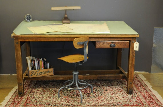 items similar to oak drafting table on etsy