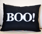 BOO 12x16 inch Halloween Pillow Cover