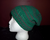 Slytherin Sparkly Super Slouchy Beanie Hat