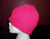 BLACK FRIDAY Basic Beanie Super Chunky Watermelon Pink- adult