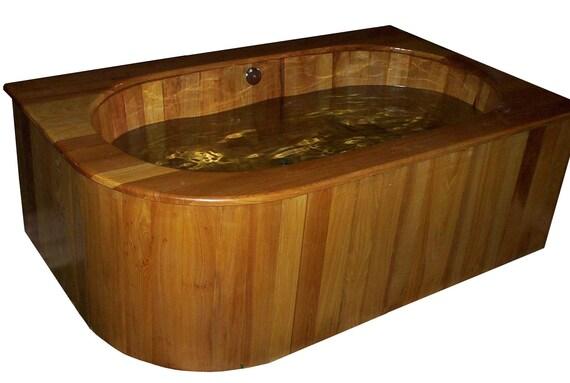 Drop-In Wooden Ofuro Bathtub in Cypress