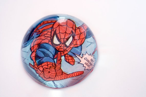 Recycled vintage comic book paperweight