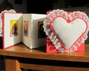 Book O Chocolates OOAK Atist Book Accordion Bound Valentine Candy