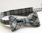 Plaid grey bowtie.