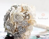 Brooch Wedding Bridal Bouquet MEDIUM Size Wedding Rhinestone Bouquet Deposit