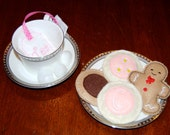 Play Tea Bag, Choose Pink, Purple, or Blue, Made to Order from Eco-Fi Felt
