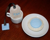 Frosted Play Cookie, Choose Pink, Blue, Purple, or Chocolate, Made to Order from Eco-Fi Felt