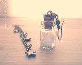 Stars Bottle Earrings. Falling stars. Asymmetrical earrings. Stars in a Bottle. Whimsical earrings, accesories