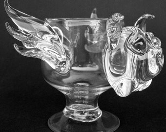 Dragon Wine Glass Hand Blown Crystal Goblet