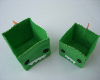 Green Monster Nesting Folding Boxes