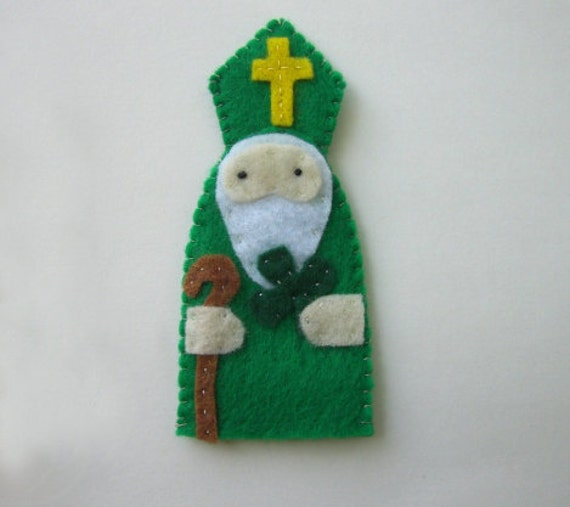Saint Patrick - Catholic Saint -  Toy Finger Puppet