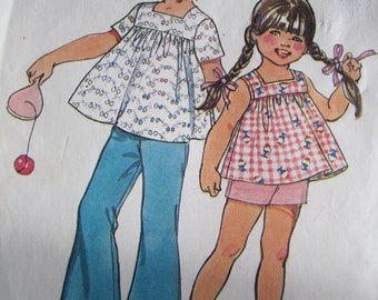 Childs Bell bottom pant and smock top pattern simplicity 5649 size 2