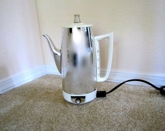 General Electric Vintage Coffee Pot Immersible Silver color