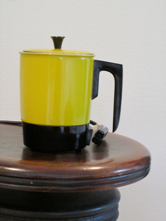 Electric Yellow Retro Tea Pot Water Heater Instant Boiling