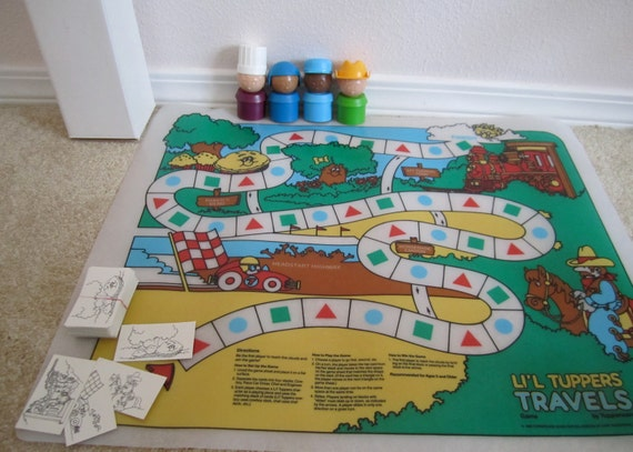 Tupperware Game Rare lil tupppers board toy vintage