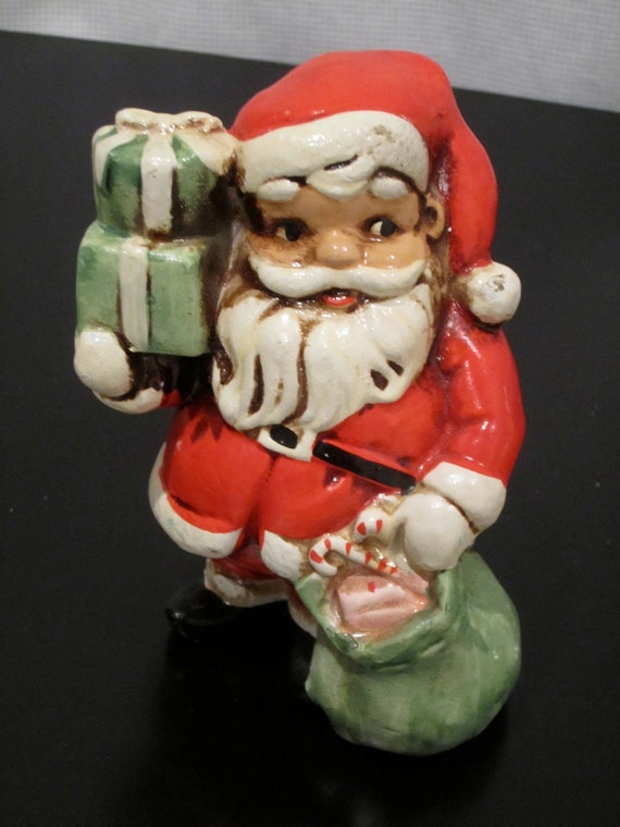 Vintage Santa Bank with presents and toys sack ready for the chimmney made in japan