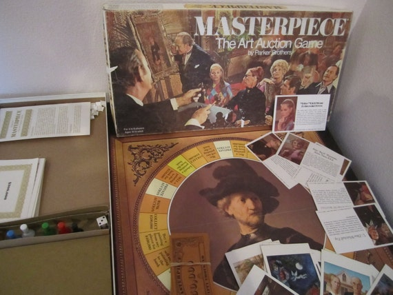Vintage Masterpiece Parker Brothers Board Game of Art and Auction