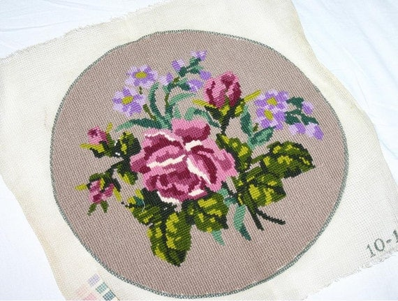 Antique Embroidery  - Cross Stitches - Finished piece - 1953