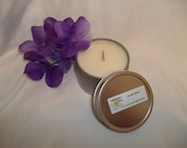 Vanilla Bean 4oz travel tin candle