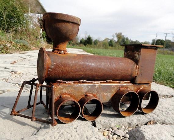 Metal Art Train Sculpture