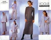 Vogue UNCUT Wardrobe Pattern 2448 - Misses Coat, Cape, Dress, Top, Skirt & Pants - 14-18