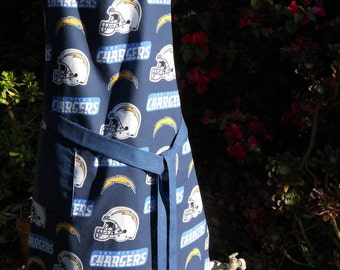 The Chargers blue and gold reversible apron great for tailgating or barbequing