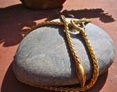 Vintage Gold Lariat Necklace