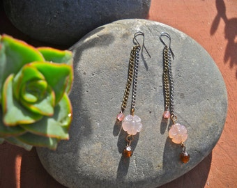 Rusted Rose Earrings