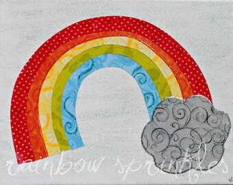 Children's Wall Art Print 8x10- rainbow, Kids Art, Kids Room Art, Play Room, Nursery Art, Nursery Room Decor