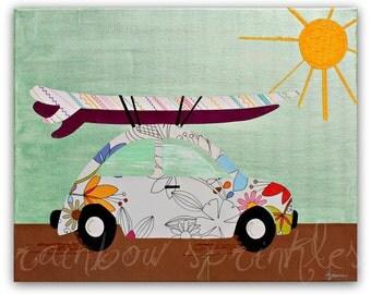 Surf Wall Art Print 16x20- surf, beach, ocean, Kids Art, Kids Room Decor, Nursery Art, Nursery Room Decor, Childrens Room, Surf Room