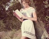 A very sweet skirt with velvet ribbon details.