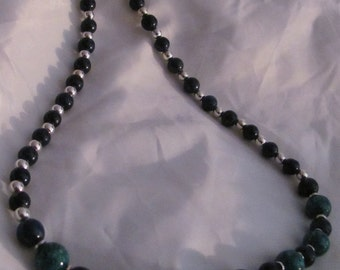 Lapis and Mosaic Turquoise Necklace