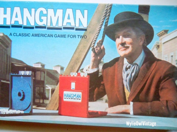 Vintage Hangman Board Game 1976