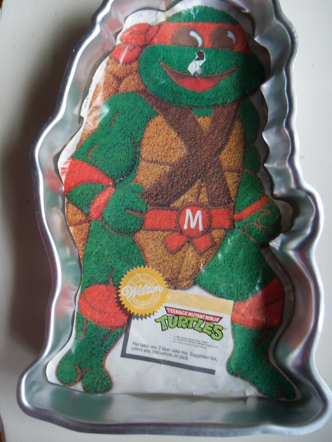 Vintage Tmnt Wilton Cake Pan New With Insert 1989