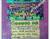 Goodness- original mixed media print