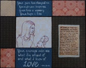 Tribute to a Birthmother- Mixed Media Print