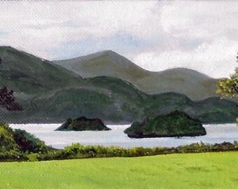 Irish Landscape - OOAK oil painting
