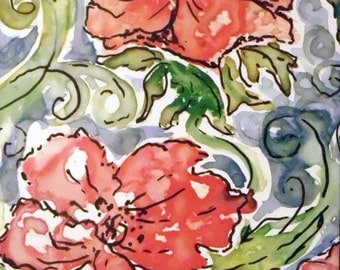 Poppy Watercolor floral Print