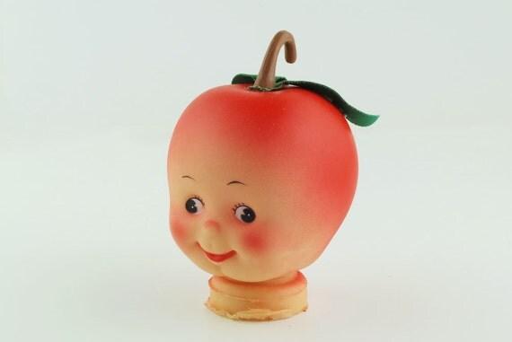 Doll, head shaped like an apple
