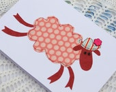 The Cat, the Sheep & the Rabbit.  Set of 3 cute cards
