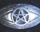 SS-0513 Celtic Protect Evil Eye ring Pentagram Sterling Silver Pick Your Ring Size We Have Sizes 3 to 14