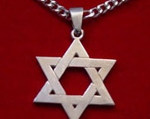 SS-0186 Star Of David Jewish Real Sterling Silver Charm Pendant