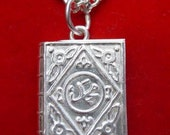 st silver quran pendant muslim allah islamic jewelry Real Sterling silver 925 pendant Charm jewelry
